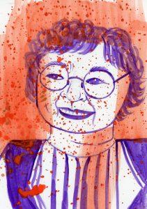Portrait of Aki Kurose by Sanjevni Prasad