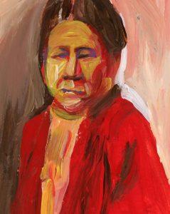 Portrait of Bertha Landes by Violet Depintrix
