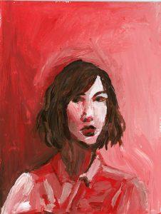 Portrait of Carrie Brownstein by Violet Depintrix