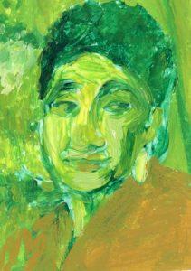Portrait of Clara Fraser by Violet Depintrix