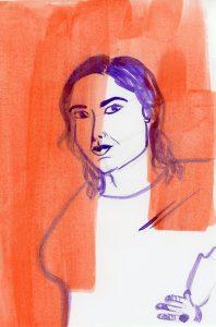 Portrait of Lindy West by Sanjevni Prasad