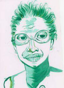 Portrait of Rosa Franklin by Sanjevni Prasad