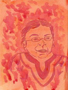 Portrait of Rosalinda Guillen by Sanjevni Prasad