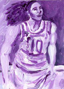 Portrait of Sue Bird by Violet Depintrix