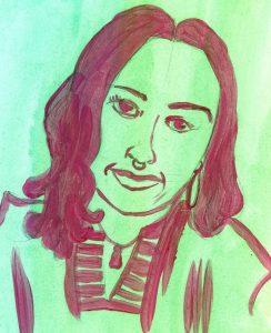 Portrait of Tracy Rector by Sanjevni Prasad
