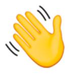 Hand Waving Emoji