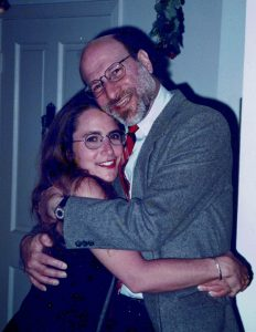 Photo of the author, Julie Shayne, with her father