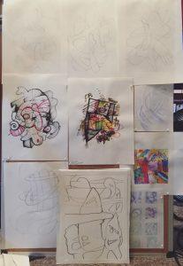 Cork Board Drawing Concepts