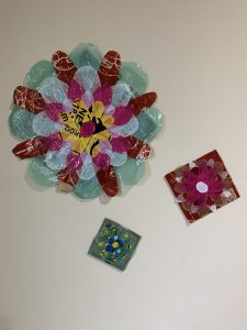 Layered Plastic Flower pieces