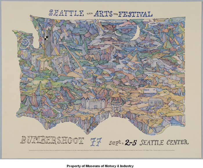 Poster for 1977 Seattle Arts Festival