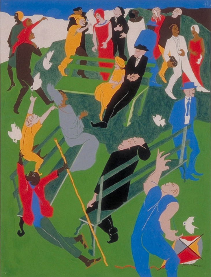 Bumbershoot '76 by Jacob Lawrence, original painted version