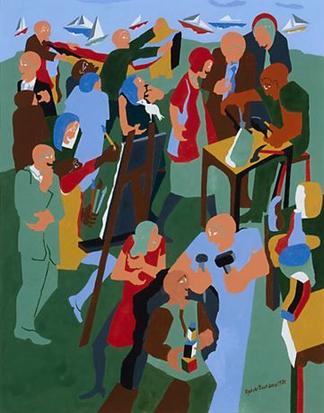 Poster by Jacob Lawrence for the Pacific Northwest Arts and Crafts Fair (1981)