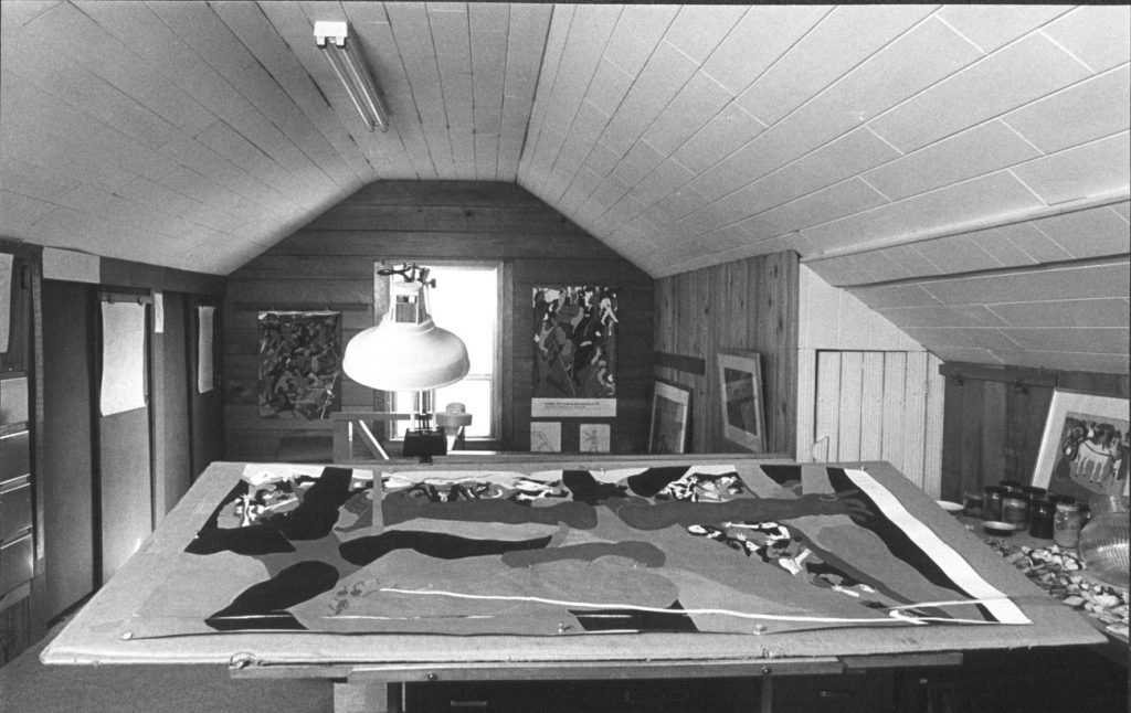 Photo of Jacob Lawrence's Seattle studio