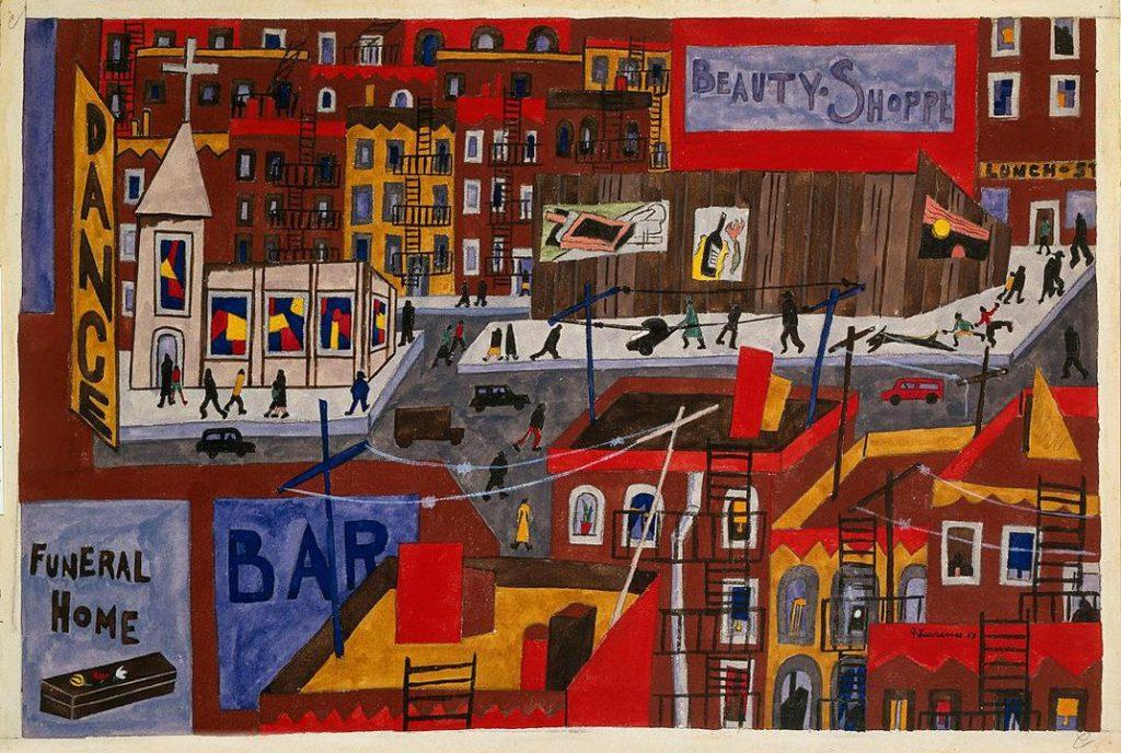Harlem city scene